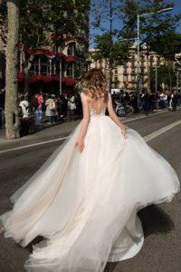 Brautkleid - Couture - ivory - Ruecken