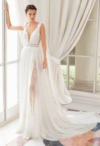 Brautkleid - Couture - ivory - Spitze - Empire
