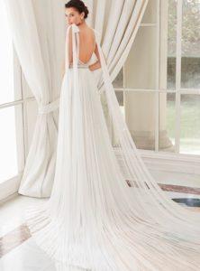 Brautkleid - Couture - ivory - Empire - Ruecken
