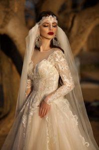 Brautkleid - Couture - Stickerei - Prinzessin - Spitze - Schleier - Aermel