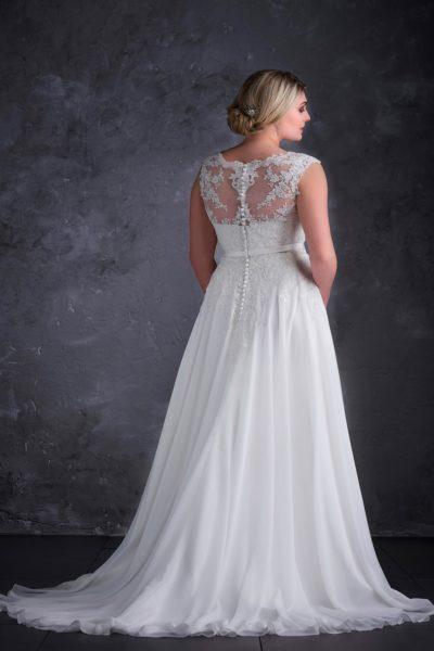 MF5256 (1) Hochzeit Curvy XXL ivory blush Traumkleid Luxemburg