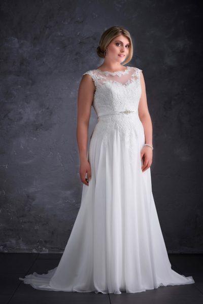 MF5256 (2) Hochzeit Curvy XXL ivory blush Traumkleid Luxemburg