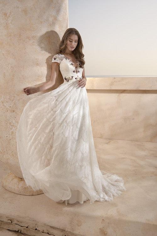 MF5440 Brautkleid ivory blush Vintage Boho Hochzeit Bitburg Luxemburg