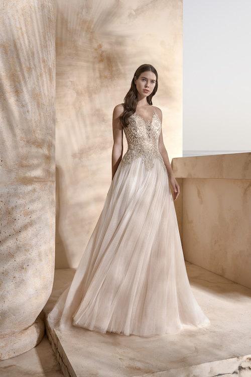 MF5441 Brautkleid ivory blush Vintage Boho Hochzeit Bitburg Luxemburg