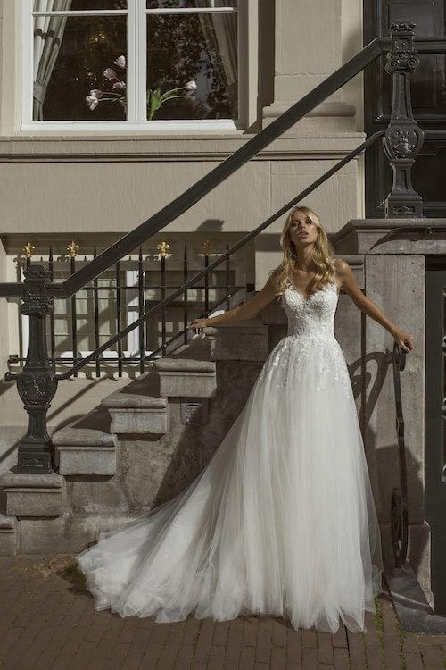 MF5442 Brautkleid ivory blush Vintage Boho Hochzeit Bitburg Luxemburg