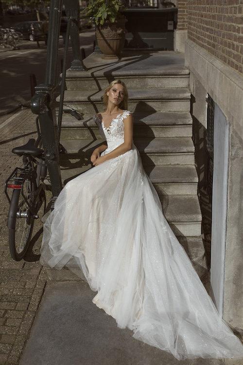 MF5443 Brautkleid ivory blush Vintage Boho Hochzeit Bitburg Luxemburg