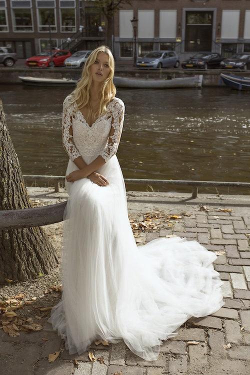 MF5444 Brautkleid ivory blush Vintage Boho Hochzeit Bitburg Luxemburg
