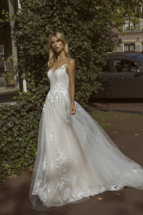 MF5446 Brautkleid ivory blush Vintage Boho Hochzeit Bitburg Luxemburg