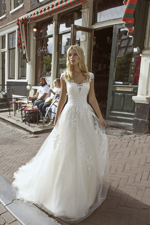 MF5547 Brautkleid ivory blush Vintage Boho Hochzeit Bitburg Luxemburg
