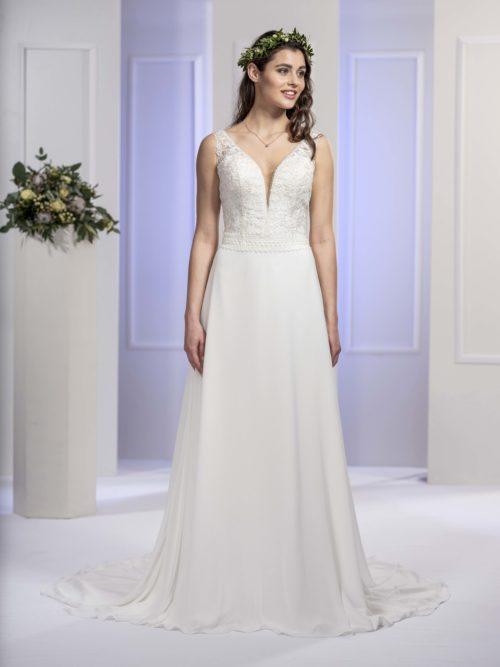 MF5672 Brautkleid ivory blush Vintage Boho Hochzeit Bitburg Luxemburg