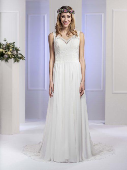 MF5673 Brautkleid ivory blush Vintage Boho Hochzeit Bitburg Luxemburg