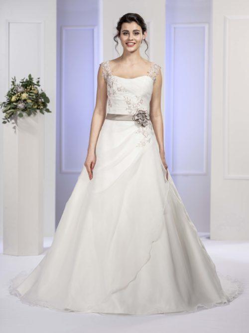 MF5677 (2) Brautkleid ivory blush Vintage Boho Hochzeit Bitburg Luxemburg
