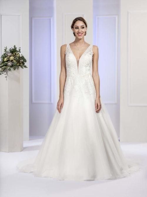 MF5678 (2) Brautkleid ivory blush Vintage Boho Hochzeit Bitburg Luxemburg
