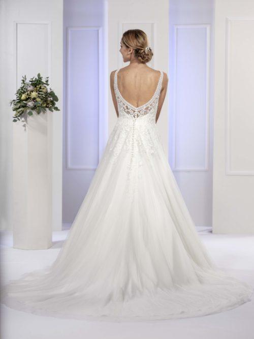 MF5678 Brautkleid ivory blush Vintage Boho Hochzeit Bitburg Luxemburg