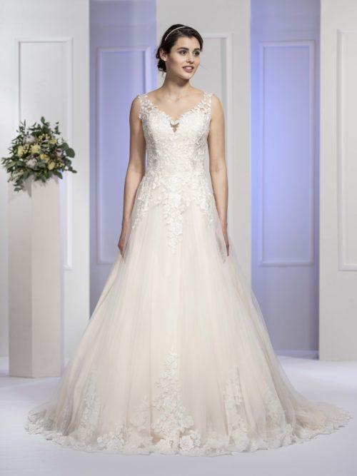 MF5679 (2) Brautkleid ivory blush Vintage Boho Hochzeit Bitburg Luxemburg