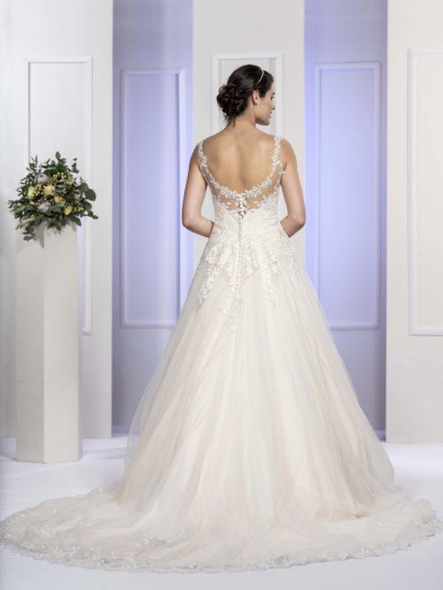 MF5679 Brautkleid ivory blush Vintage Boho Hochzeit Bitburg Luxemburg