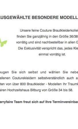 Couture Brautkleider Marryfair Brautmode Bitburg