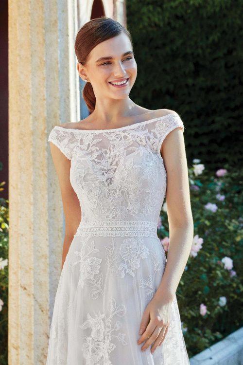 MF6284 Vintagekleid Boho A Linie Prinzessinkleid Hochzeitskleid Brautkleid (5)