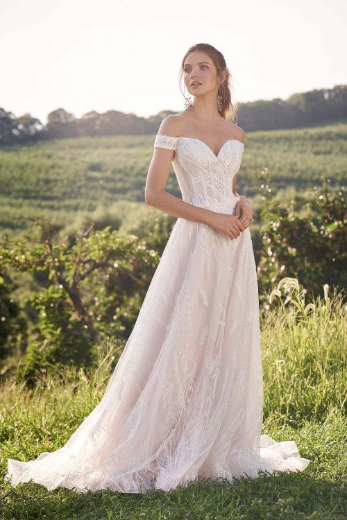 MF6301 Hochzeit Weddingdress A Linie Standesamt (1)