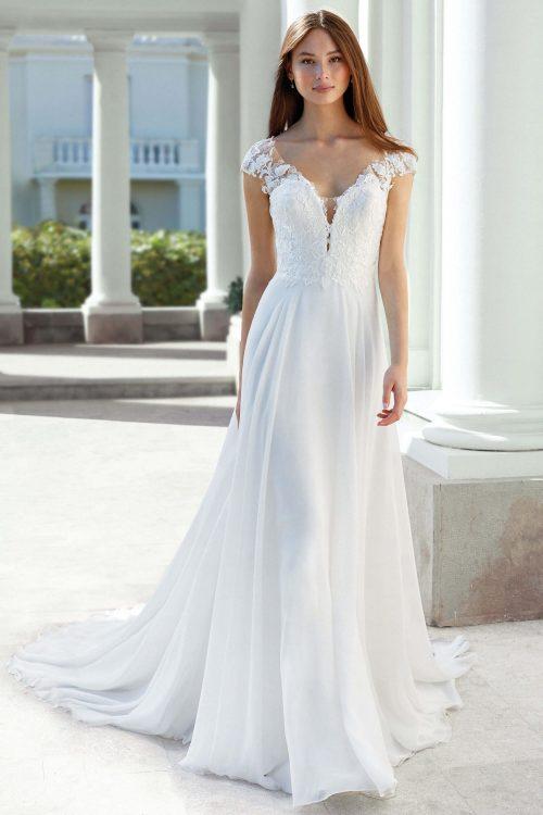 MF6306 Weddingdress Vintagekleid Boho Spitze Hochzeit Freie Trauung (1) (1)