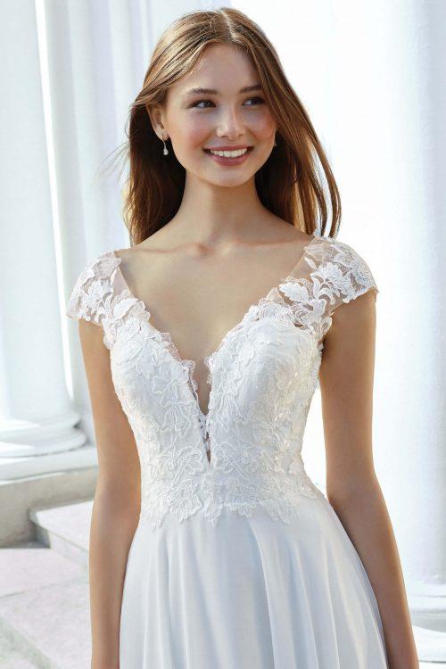 MF6306 Weddingdress Vintagekleid Boho Spitze Hochzeit Freie Trauung (7) (1)