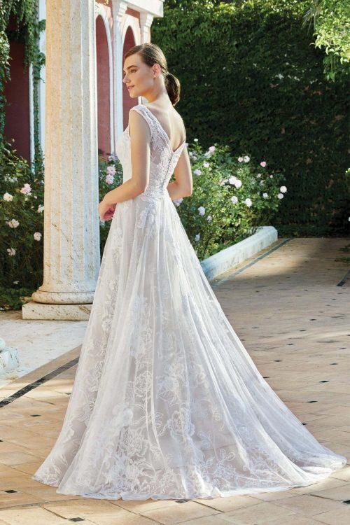 MF6284 Vintagekleid Boho A Linie Prinzessinkleid Hochzeitskleid Brautkleid (4) (1)