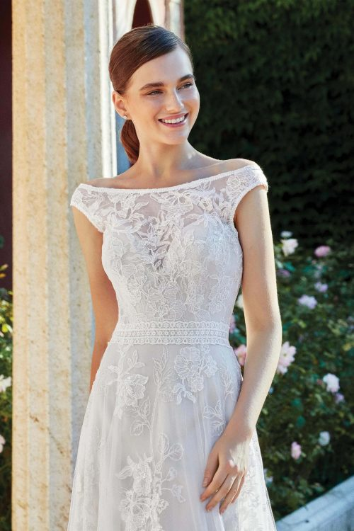 MF6284 Vintagekleid Boho A Linie Prinzessinkleid Hochzeitskleid Brautkleid (5) (1)
