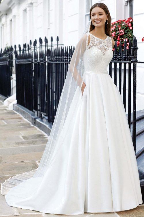 MF6309 Brautkleid Vintage Spitzenkleid Hochzeitskleid Hochzeit Trier Bitburg (3) (1)
