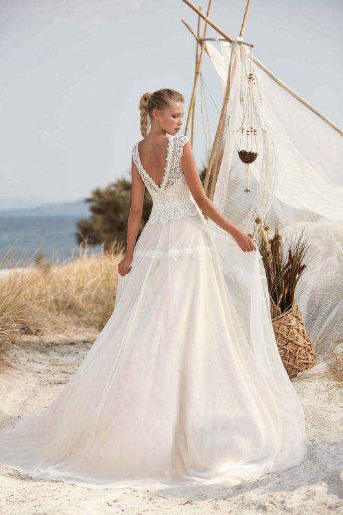 MF6402 Vintage Spitzenkleid Rückenausschnitt Hochzeitskleid (6) (1)