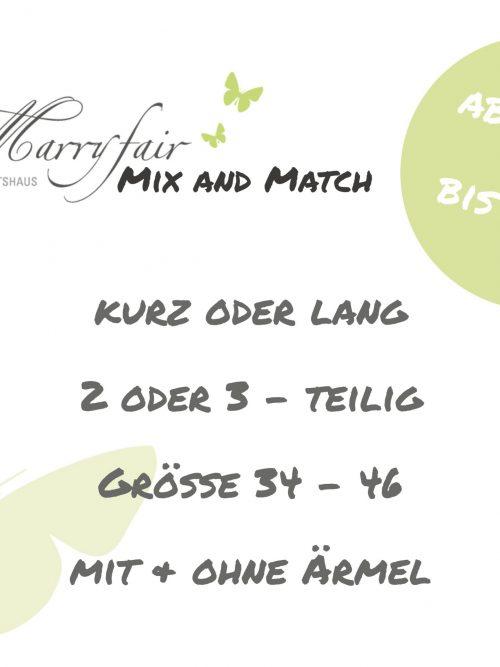 1.Marryfair Mix and Match Standesamtkleider Angebot