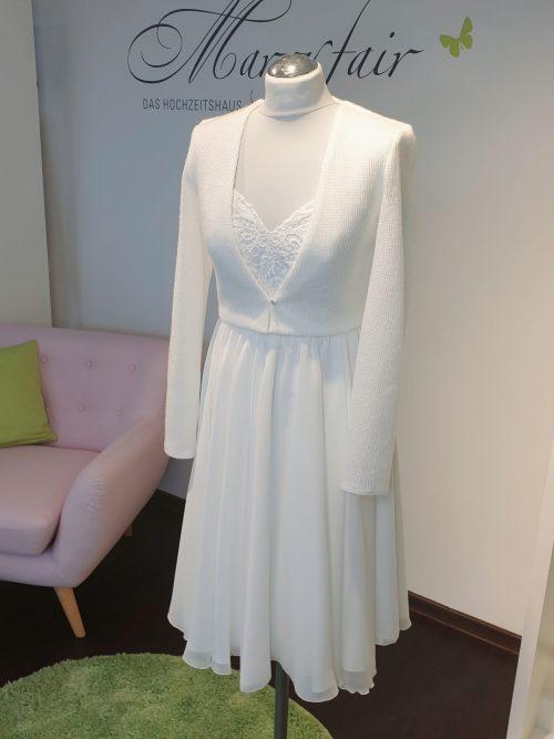 Marryfair Mix and Match Brautkleid Standesamtkleid kurz lang ivory schlicht (1)