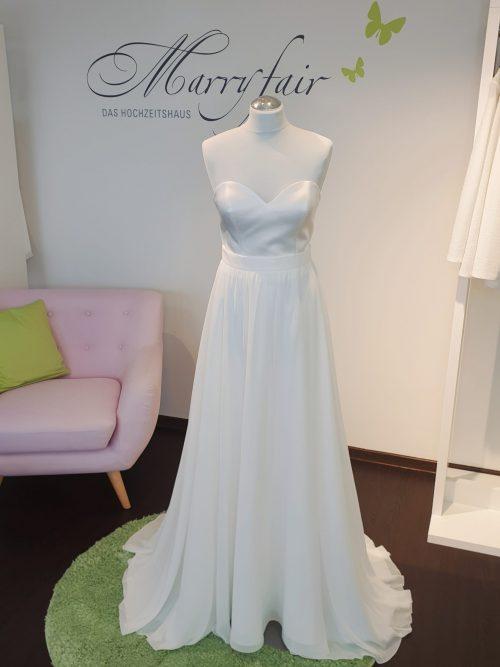 Marryfair Mix and Match Brautkleid Standesamtkleid kurz lang ivory schlicht (2)
