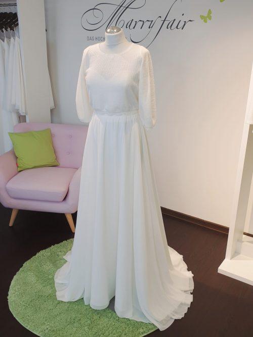 Marryfair Mix and Match Brautkleid Standesamtkleid kurz lang ivory schlicht (3)