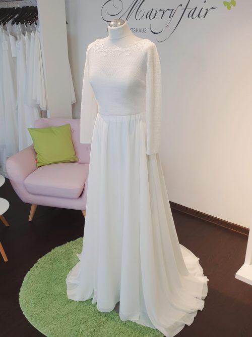 Marryfair Mix and Match Brautkleid Standesamtkleid kurz lang ivory schlicht (4)