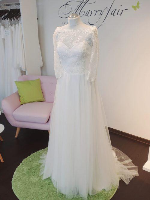 Marryfair Mix and Match Brautkleid Standesamtkleid kurz lang ivory schlicht (5)