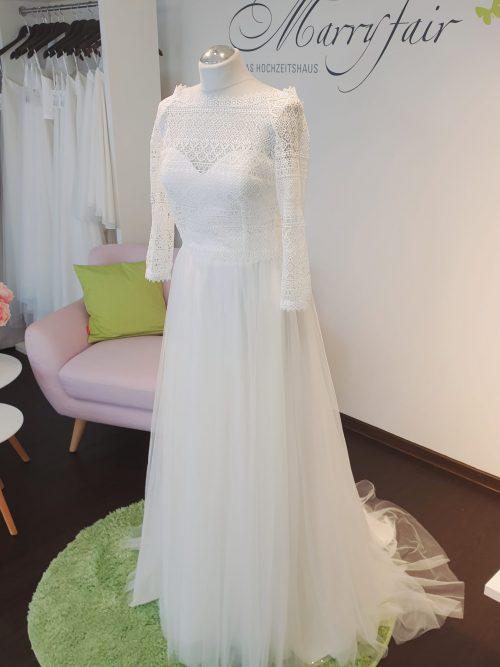 Marryfair Mix and Match Brautkleid Standesamtkleid kurz lang ivory schlicht (6)