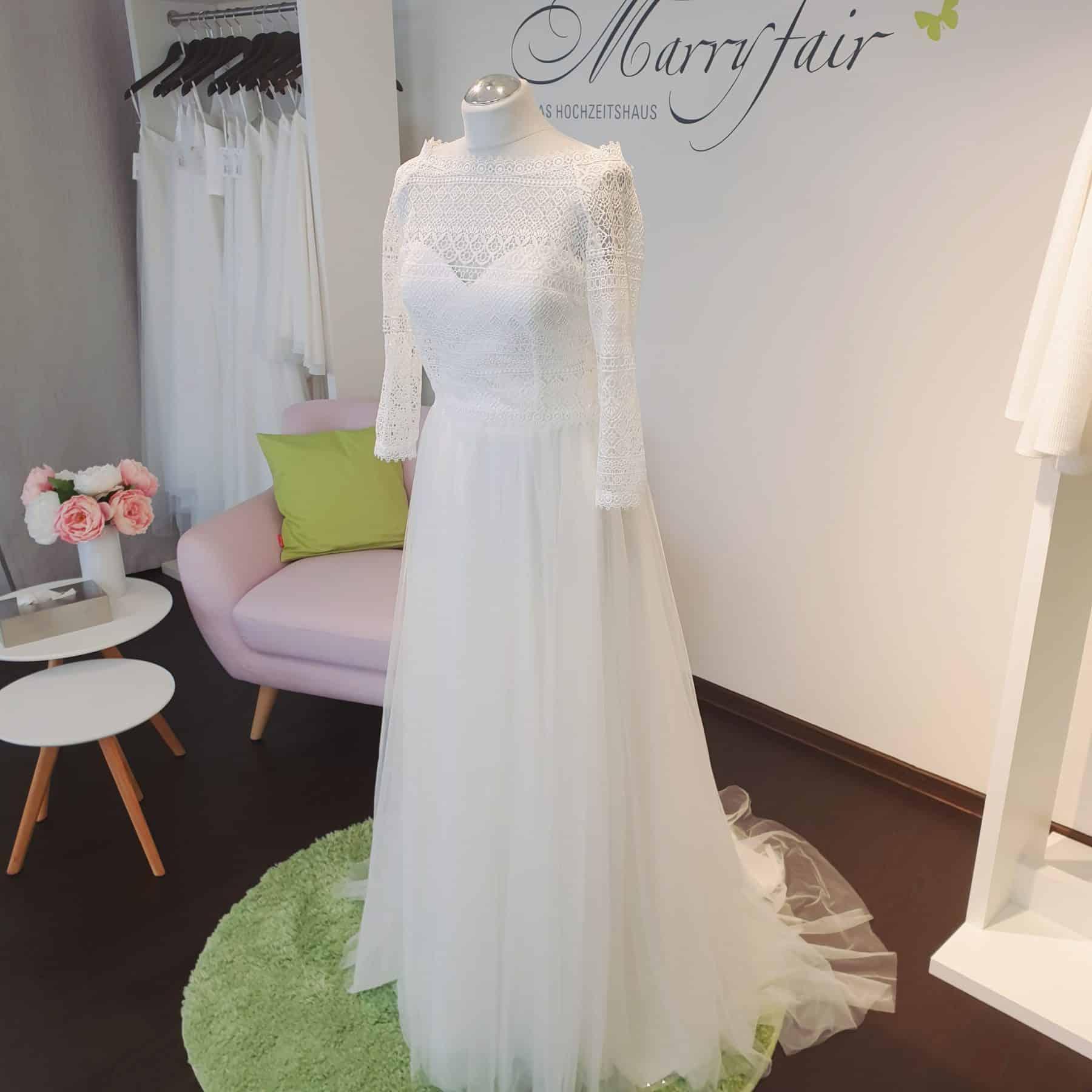 Marryfair Mix And Match Brautkleid Standesamtkleid Kurz Lang Ivory Schlicht 6 Marryfair