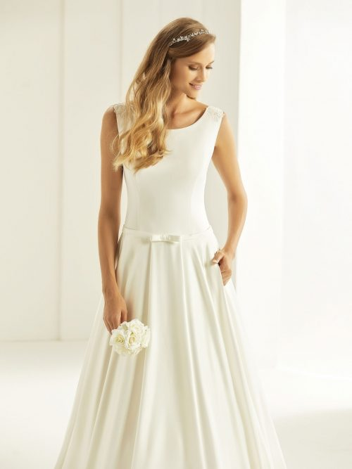 Marryfair schlichte Brautkleider Standesamt ivory Spitze (14)