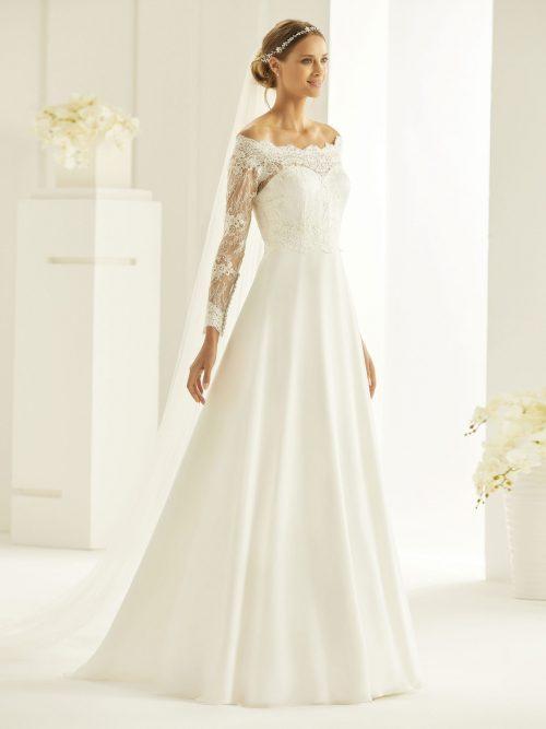 Marryfair schlichte Brautkleider Standesamt ivory Spitze (15)
