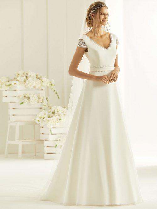 Marryfair schlichte Brautkleider Standesamt ivory Spitze (21)