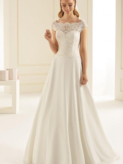 Marryfair schlichte Brautkleider Standesamt ivory Spitze (3)