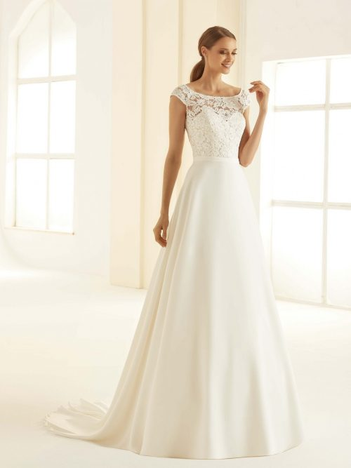 Marryfair schlichte Brautkleider Standesamt ivory Spitze (5)