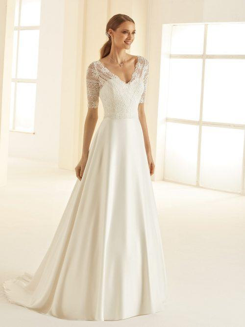Marryfair schlichte Brautkleider Standesamt ivory Spitze (9)
